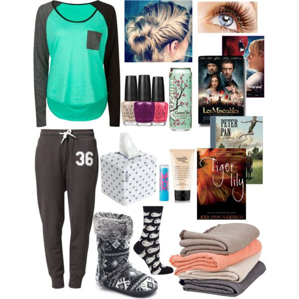 Sick Day/ but I would seriously wear this out just add a jean jacket and a scarf hoop earrings and ugg boots