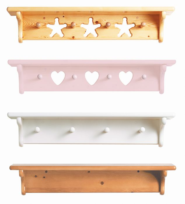 White Wall Shelf with Pegs