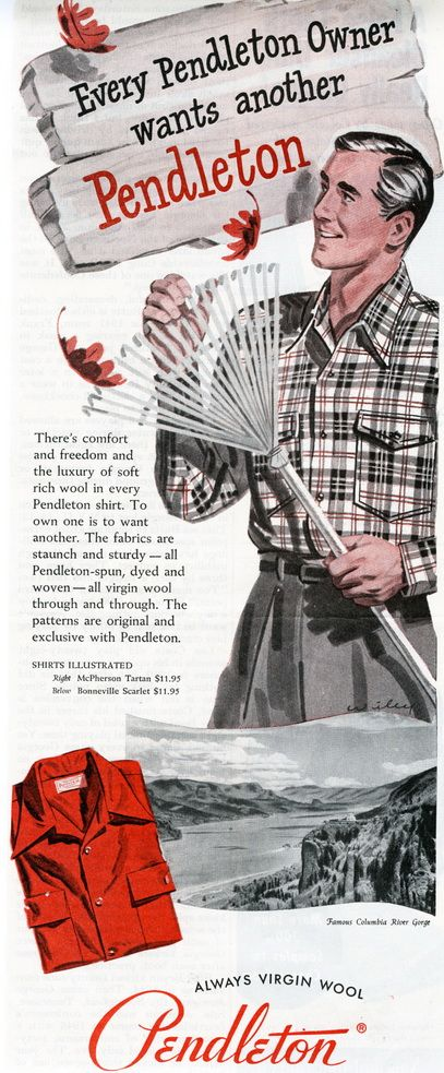 1949 Every Pendleton Owner Wants Another / McPherson Tartan Ad (GentlemansGazette.com)