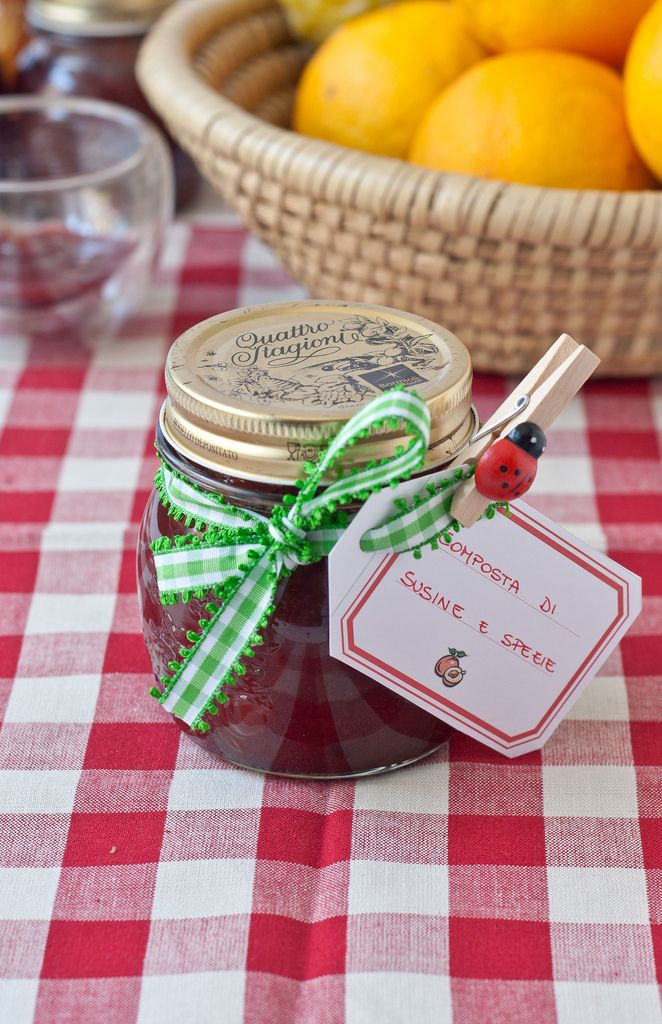 Plum jam and spices