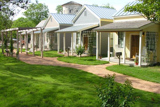 B Cottages -- Texas -- Wake up to the smell of rosemary, thyme, and other fresh scents when you stay in one of the newly opened Sunday Houses at Fredericksburg Herb Farm, 830/997-8615.