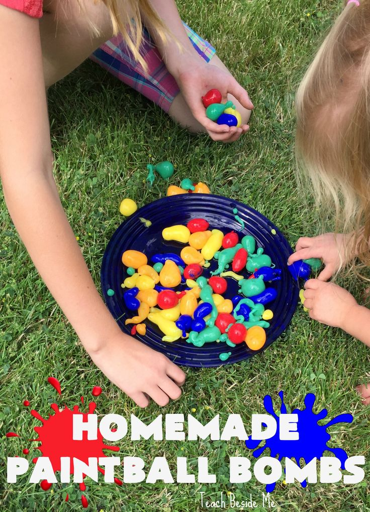 Make homemade paintball bombs with a little science and a little art combined. This is a fun activity that is sure to impress! Great for parties!