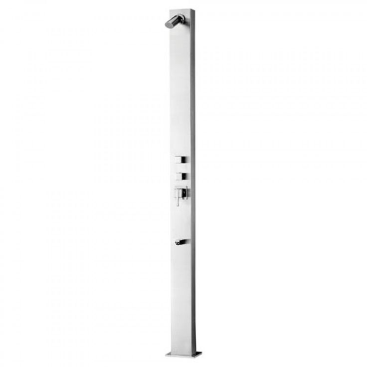 Sevona Freestanding Brushed Stainless Steel Shower Panel