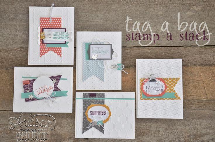 Simple Tag a Bag Stamp A Stack Design - Krista Frattin