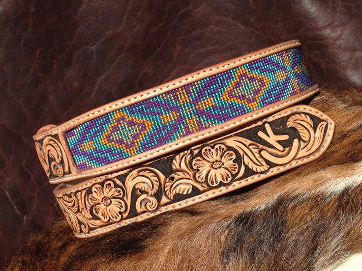 custom beaded belts custom leather belt tapered leather