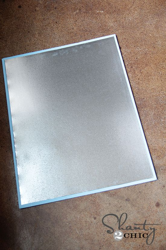 Magnetic board diy sheet metal magnets and metals for Galvanized metal sheets for crafts