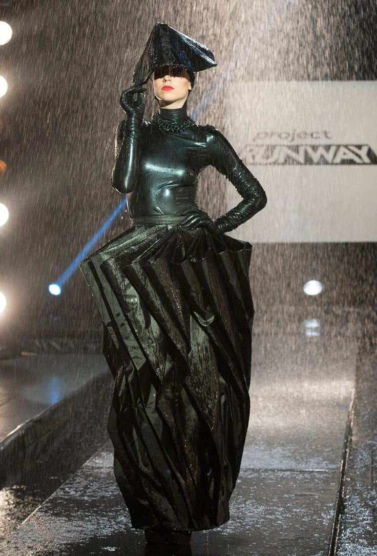 Project Runway Season 13 Rate the Runway Kini Zamora Episode 8 Look  Don't we all need an umbrella dress?