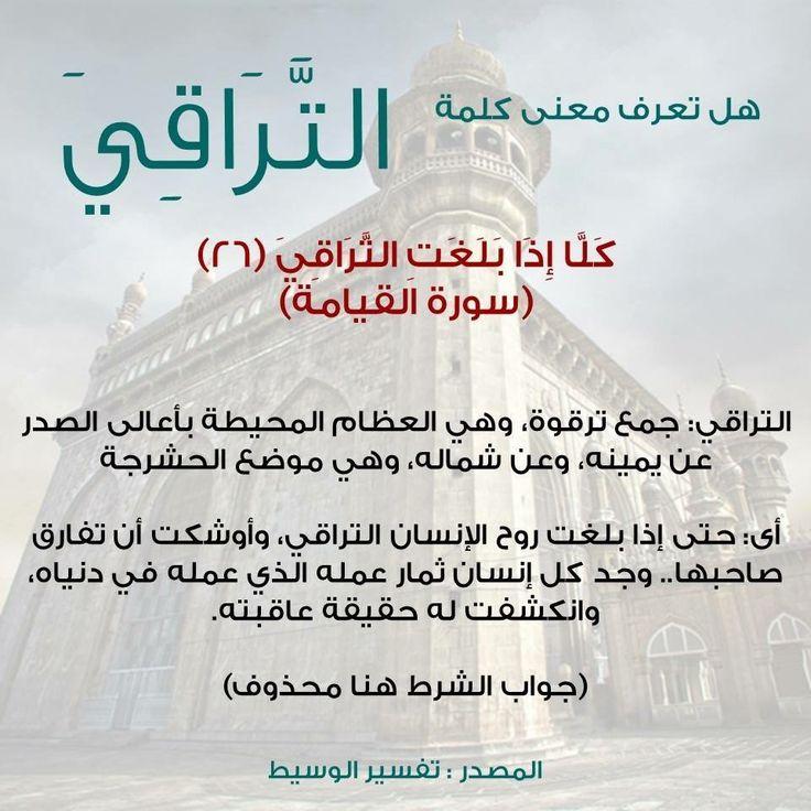معنى التراقي Islamic Information Quran Tafseer Personal Care