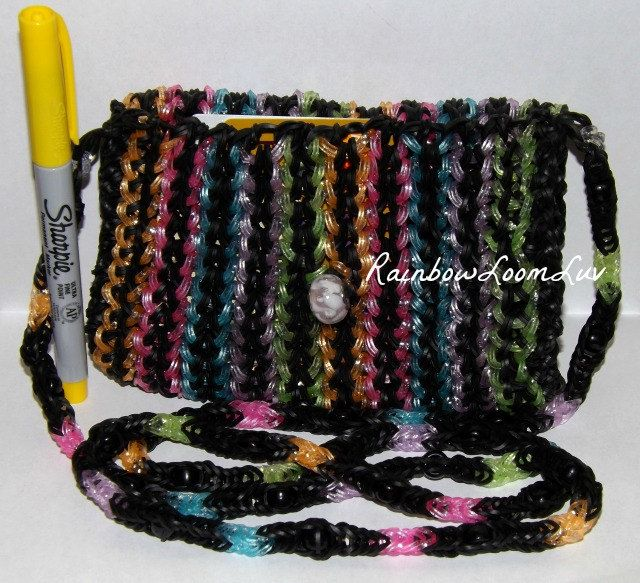 Rainbow Loom Purse - This is NOT a tutorial, it is a picture for inspiration.