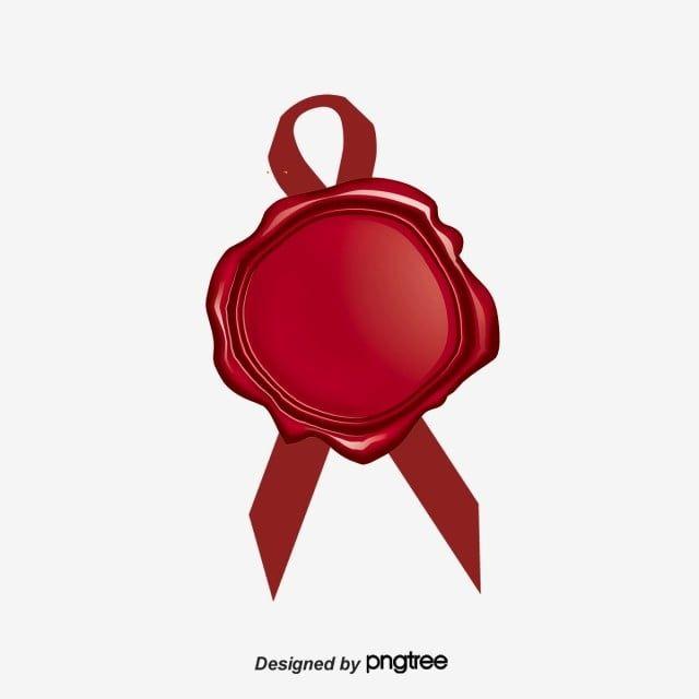 شارة الشمع الأحمر الختم صور المتجهات مع المواد Png Wax Wax Seals Red