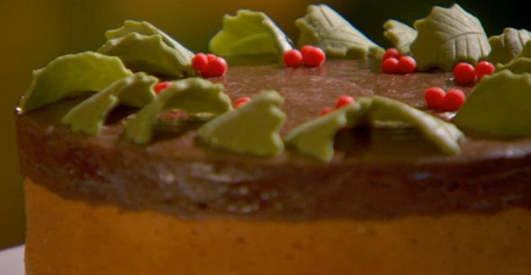 Tunis cake with a Madeira base by Mary Berry at Christmas on The Great British Bake off Christmas Special