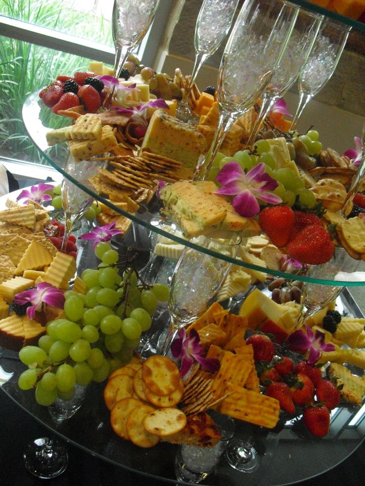 Fruit And Cheese Centerpieces | Displays | The Range At The Barton House,  Restaurant U0026