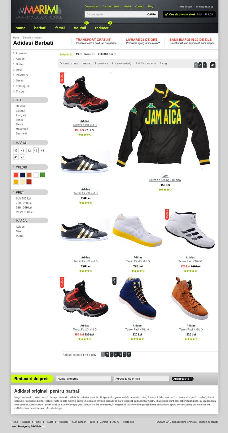 layout 1 lista produse