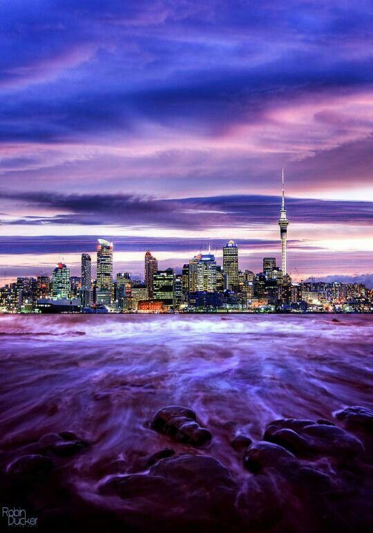 View of Auckland from Devonport, The North Island, New Zealand