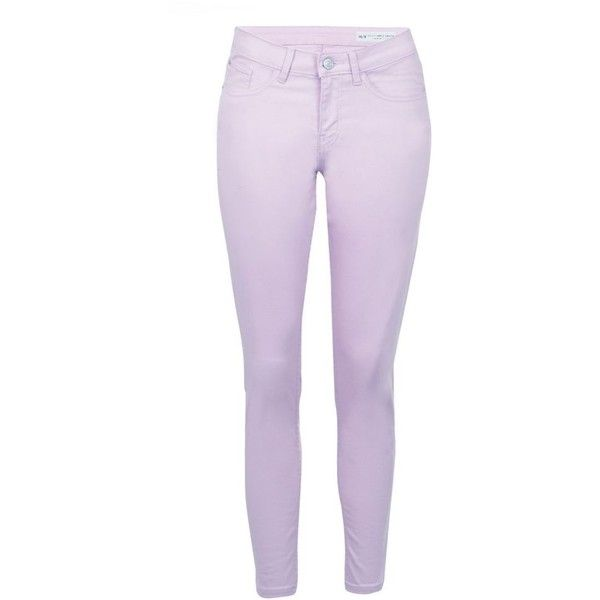 Red Herring Lilac 'Holly' super skinny ankle grazer jeans ($25) ❤ liked on Polyvore featuring jeans, super skinny jeans, skinny jeans, purple jeans, red herring and skinny fit jeans