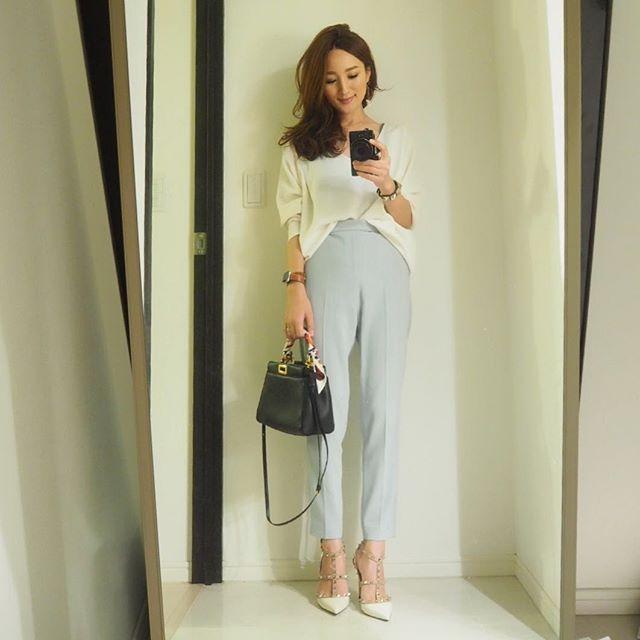 . トップス・ボトムス#STUNNINGLURE #スタニングルアー  靴,アクセ#valentino #ヴァレンティノ バッグ#FENDI #フェンディ#ピーカブー#ミニピーカブー  #coordinate #fashion #outfit #ootd #instafashion #mamacoordinate #ママコーデ