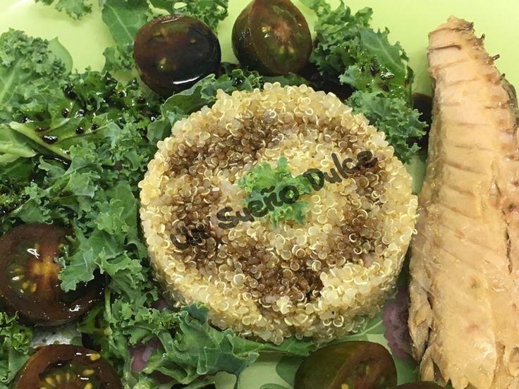 Ensalada de quinoa y kale con caballa #UnSueñoDulce