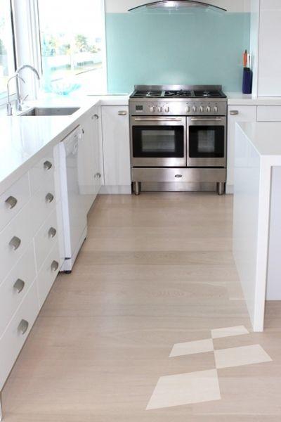 Off-white Oak floor (Custom) - Mt Maunganui residence - Designer Flooring   French Oak   Real Wood Floors   Imitation Wood Floors   Solid Wood Flooring