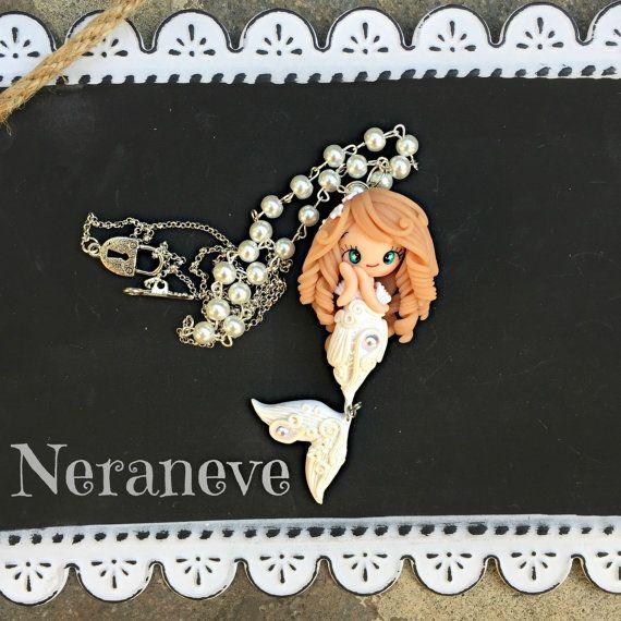 Trotella bianca coda ciondolina di NeraneveStella su Etsy