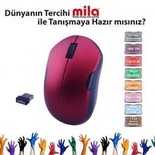 Mila Kablosuz USB Nano Alıcılı Optik Mouse Kırmızı / Siyah şerit. #pc #alışveriş #indirim #trendylodi  #bilgisayar  #bilgisayarcevrebirimleri  #teknoloji