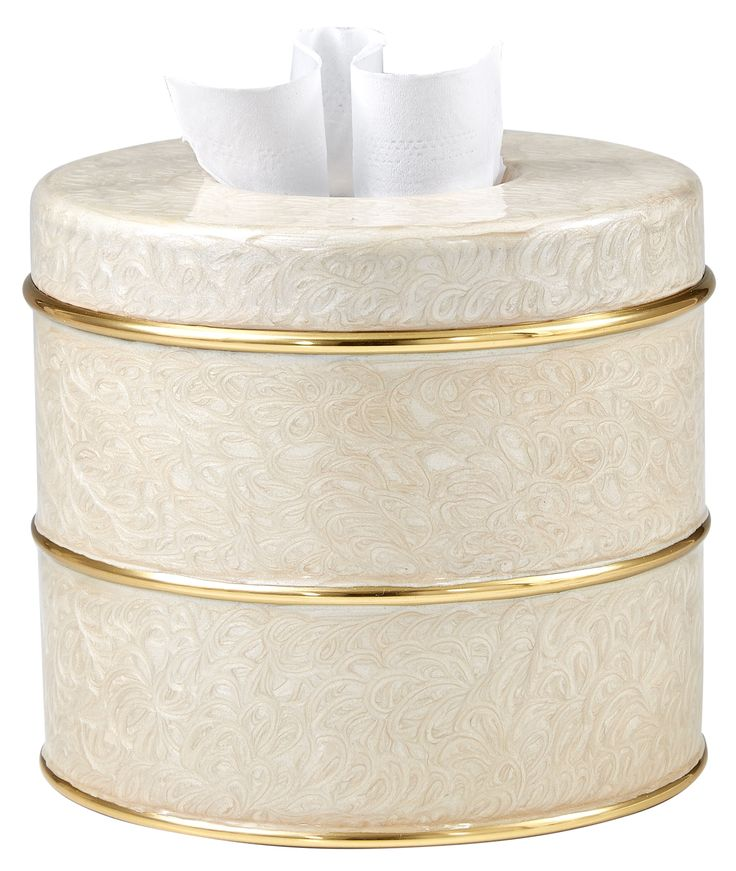 Buy Fiona Ivory Tissue Cover by Labrazel - Quick Ship designer Bathroom Fittings & Accessories from Dering Hall's collection of Traditional Accessories.