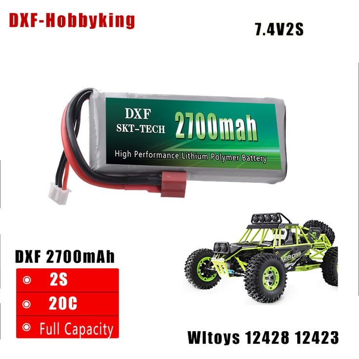 2017 DXF New Arrived  Rc Lipo Battery 2S 7.4V 2700mah 20C Max 50C for Wltoys 12428 12423 1:12 RC Car Spare parts //Price: $25.02 & FREE Shipping //     #factory