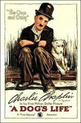 CINE(EDU)-736(1). Vida de perro. Dir. Charles Chaplin. EEUU, 1918. Comedia. Charlot encóntrase sen traballo e as súas perspectivas non son nada prometedoras cando salva unha cadela errante chamada Scraps do ataque doutros cans. Ambos os dous fanse inseparables e perseguen un mesmo obxectivo: conseguir comida. http://kmelot.biblioteca.udc.es/record=b1510753~S1*gag