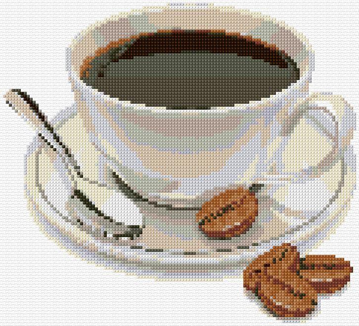 Cross Stitch | Coffee Cup xstitch Chart | Design