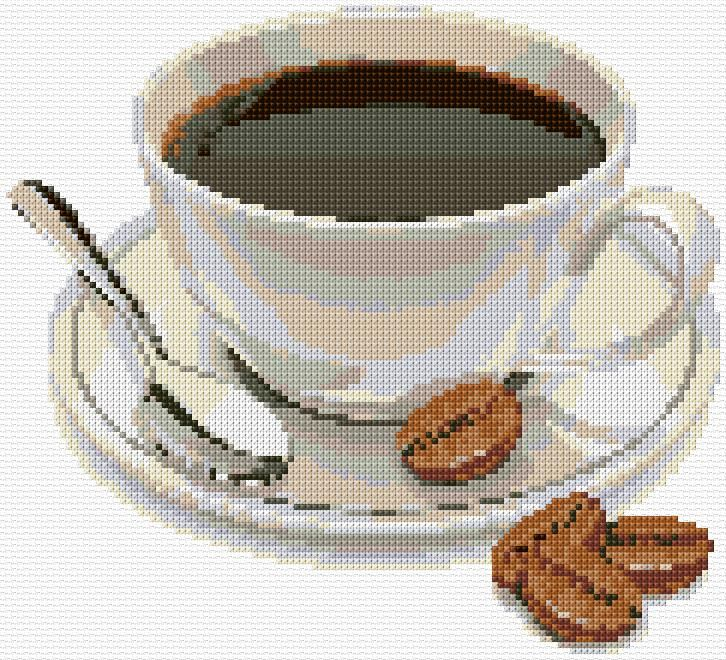Cross Stitch | Coffee Cup xstitch Chart | Design