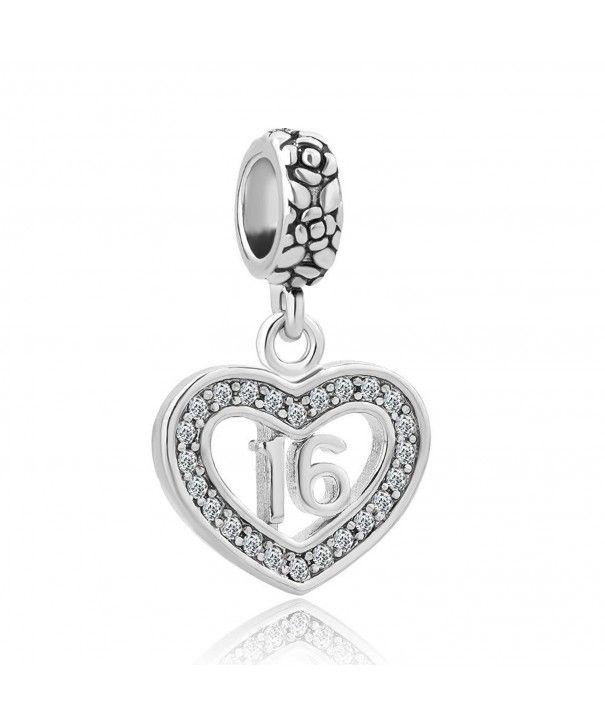 Heart Sweet 16 Charm Happy Birthday Beads Fits European Charm Bracelet Cn12nz0gwtu Bead Charm Bracelet Horse Charm Bracelet Heart Beads