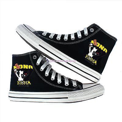 Danganronpa monokuma Canvas Shoes women sneakers black shoes Trainers Boots