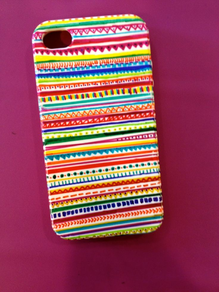 Unique DIY Decorate Rubber Phone Case Ideas On Pinterest - Transform your phone into a blacklight using just a tape and sharpie