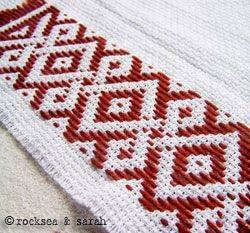 pattern darning: reversible | Sarah's Hand Embroidery Tutorials This site hss great tutorials