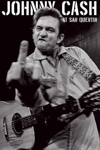 Johnny Cash, foto em San Quentin Pôster