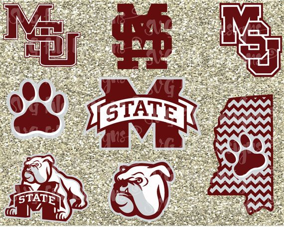 Mississippi State Bulldogs Football Logo Cutting by SVGFileDesigns