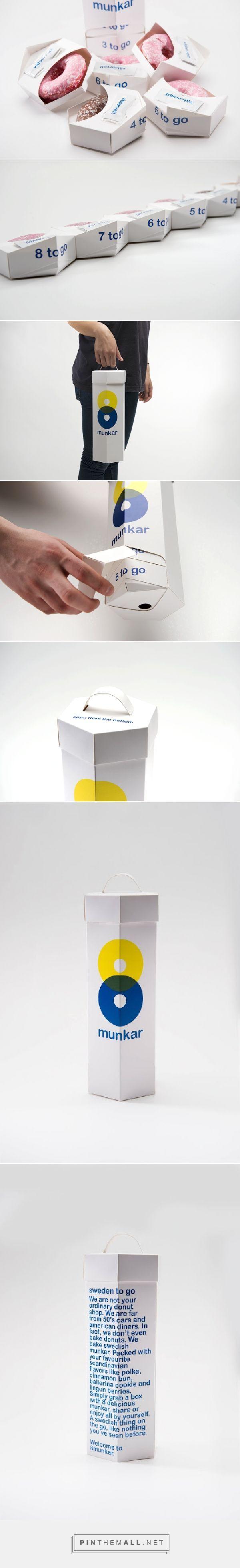 8munkar Donuts - Student concept packaging designed by Emelie Johannesson & Oliver Sjöqvist - http://www.packagingoftheworld.com/2015/06/8munkar-student-project.html