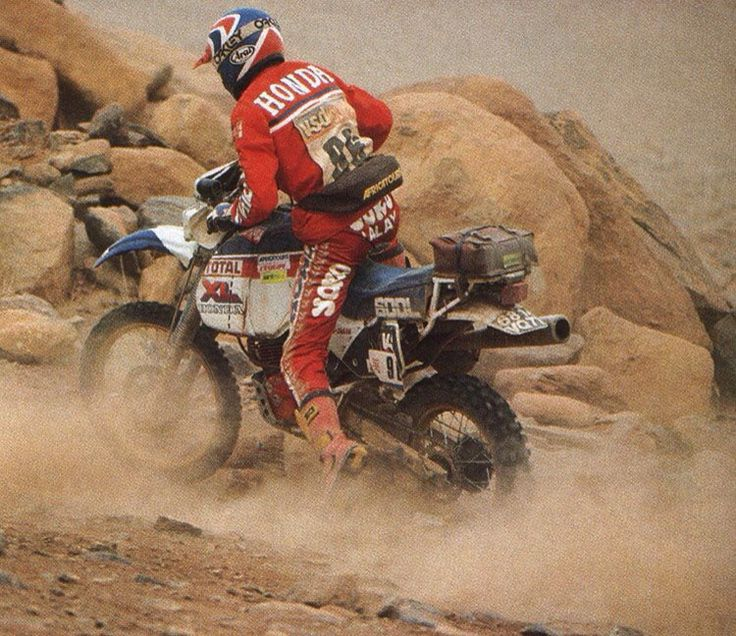 Gilles Lalay Honda XL 1985 Paris Dakar
