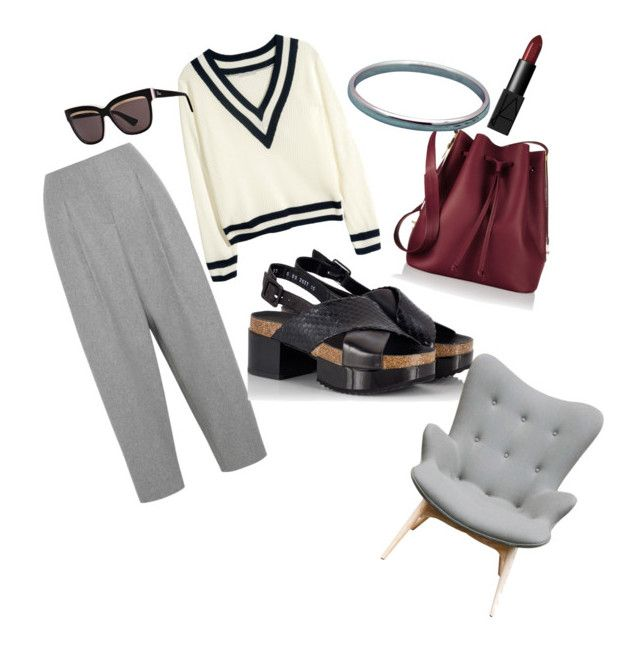 lawyer's office look by sheiscarla on Polyvore featuring polyvore, fashion, style, H&M, Acne Studios, Robert Clergerie, Fratelli Karida, Sophie Hulme, Tiffany & Co., Christian Dior, NARS Cosmetics, Aeon, women's clothing, women's fashion, women, female, woman, misses and juniors