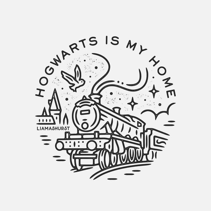 Ich Hatte Das Vergnugen Dieses Hogwarts Express T Shirt Design Fur It S A M Design Dieses Express Harry Potter Tattoos Hogwarts Zeichnung Bleistift