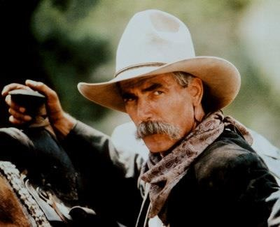 Few men can get away with not using moustache wax. Mr Sam Elliot I applaud you. Ride 'em cowboy. Fawcett.