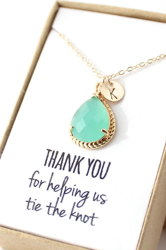 Mint Opal Necklace  Mint Green Bridesmaid Necklace  door ForTheMaids, $30.00