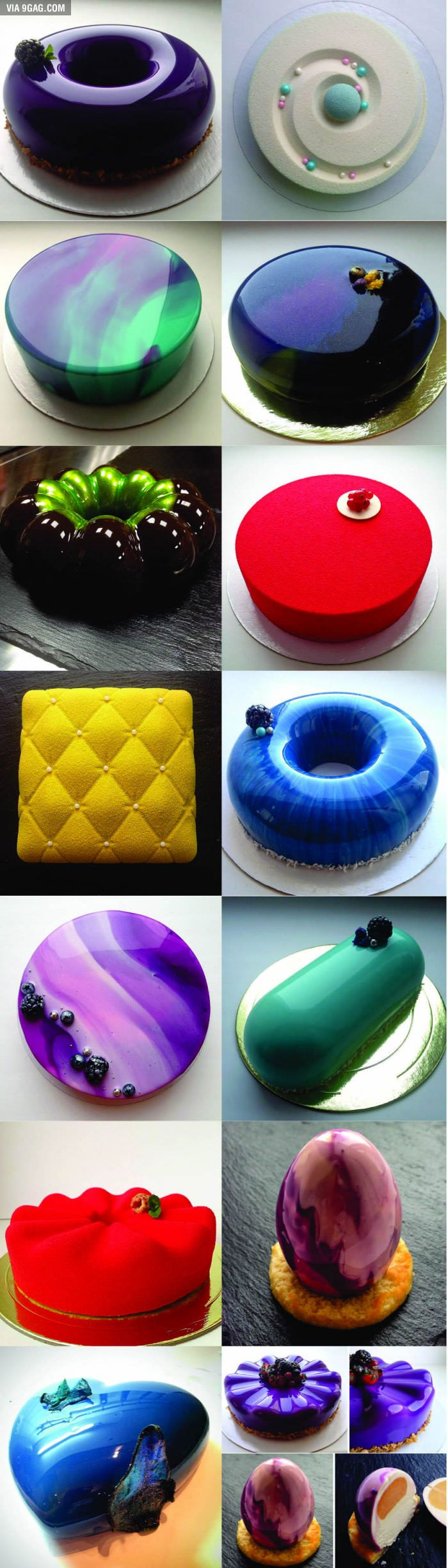 Glass-like cakes... Does anyone know where to find the recipe? - 9GAG
