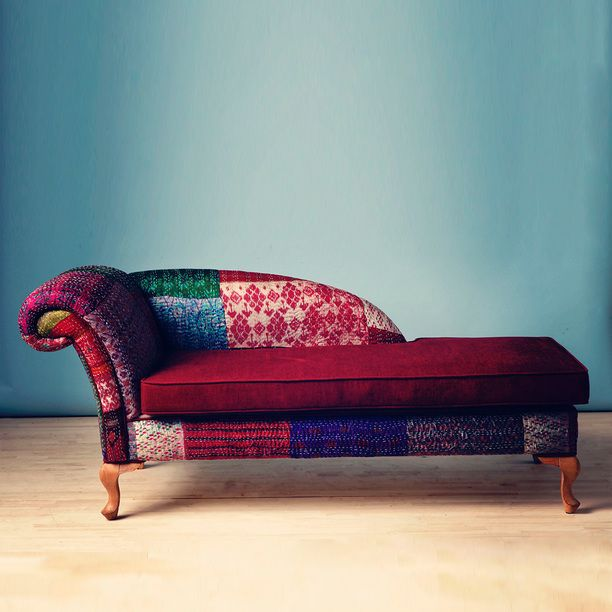 Patchwork Chaise Lounge Multi, Furniture, Lounge Chairs Awesome Design