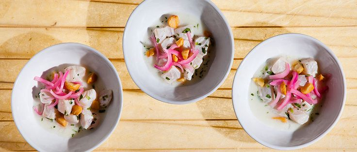 Make red snapper poke with pickled red onions and coconut milk, courtesy of chef Chris Kajioka.