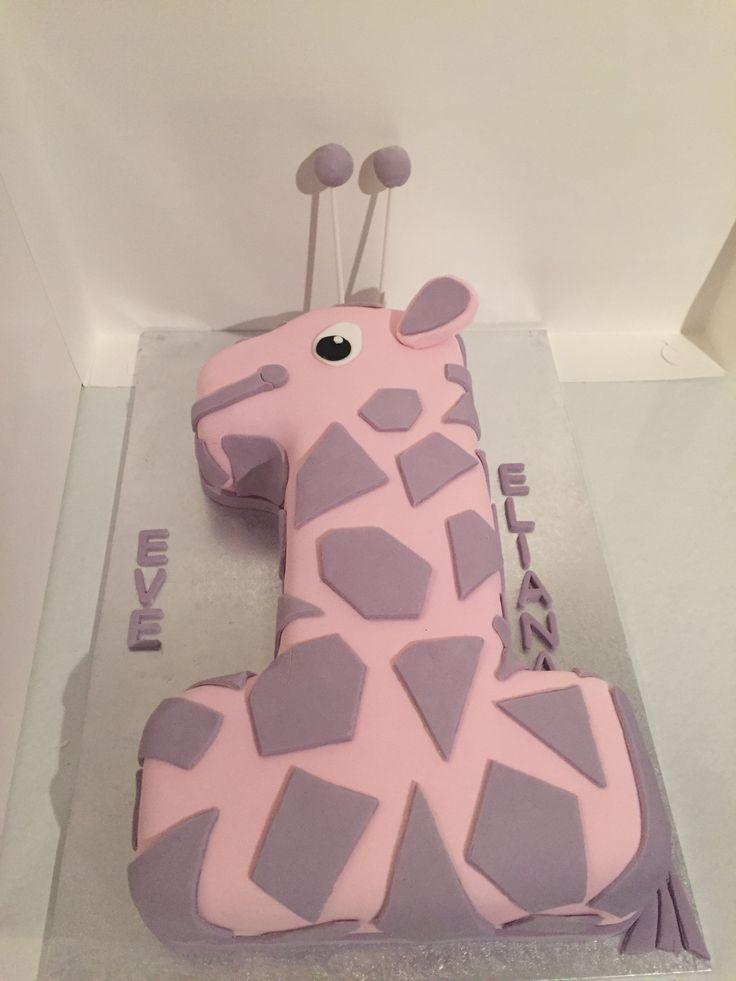 1st Birthday Fondant Giraffe cake