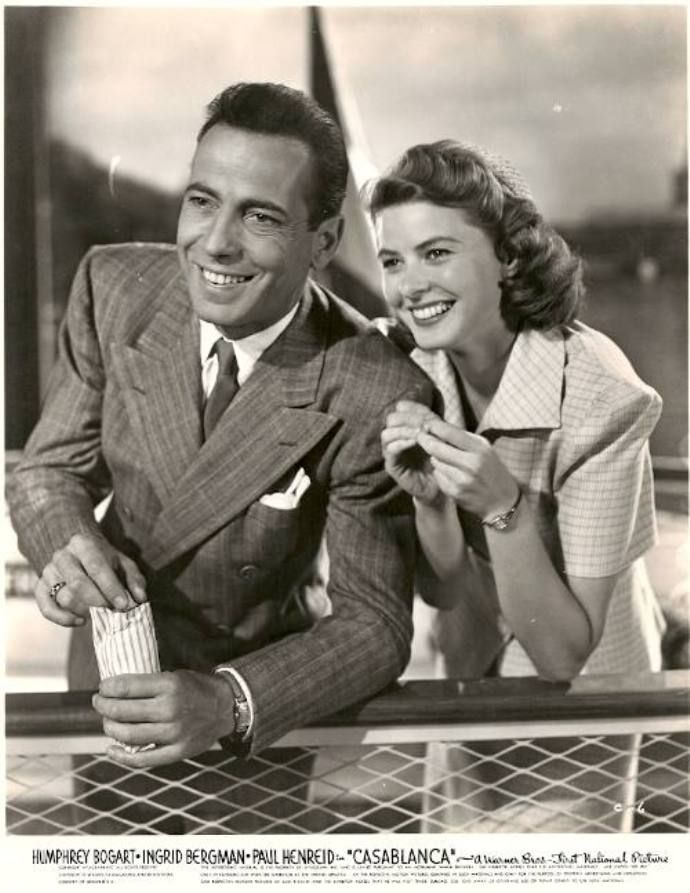 Humphrey Bogart and Ingrid Bergman, Casablanca
