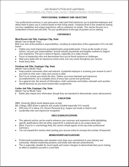 resume help - Google Search Finding jobs and Job leads - job summaries