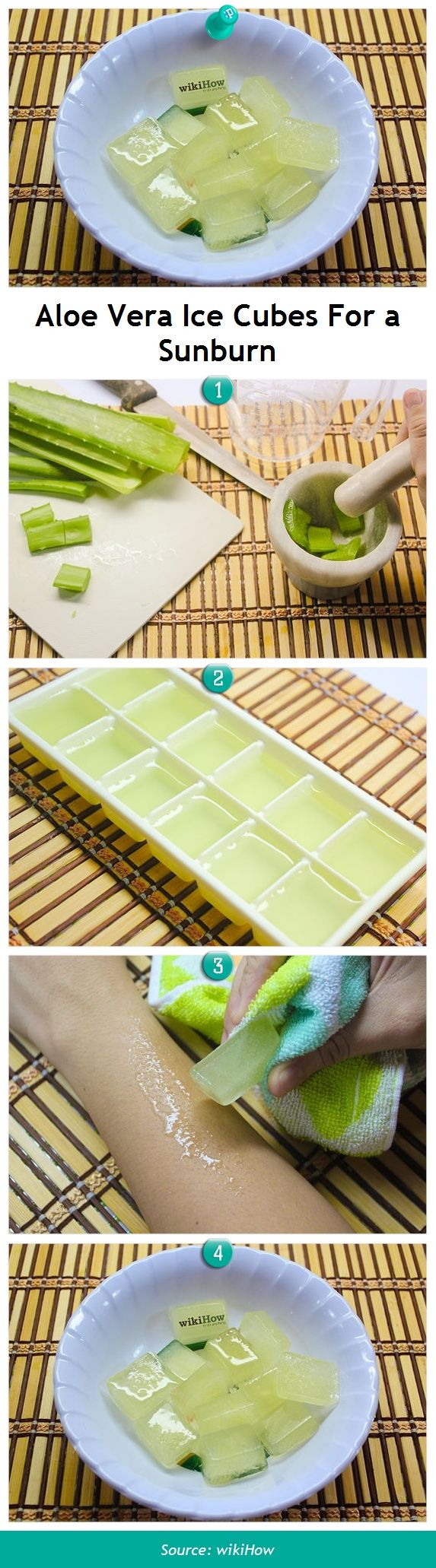 How to Use Aloe Ice Cubes to Treat a Sunburn