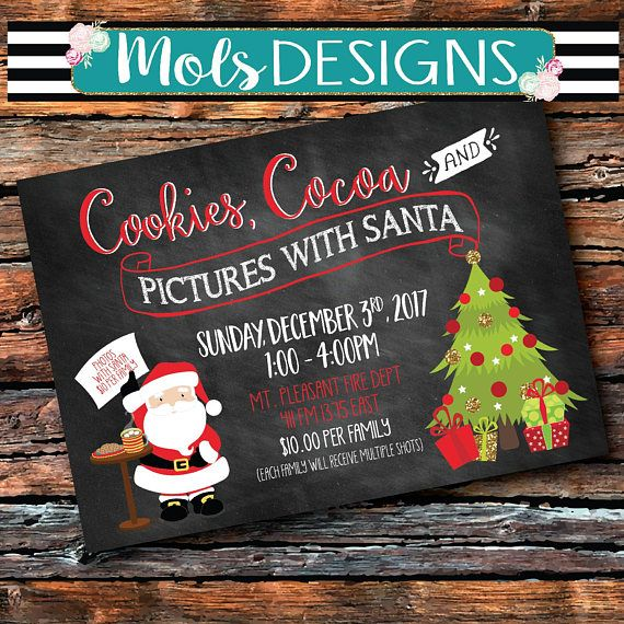 8174820864 PHOTOS WITH SANTA Chalkboard Christmas Cookies Cocoa Cocktail ...