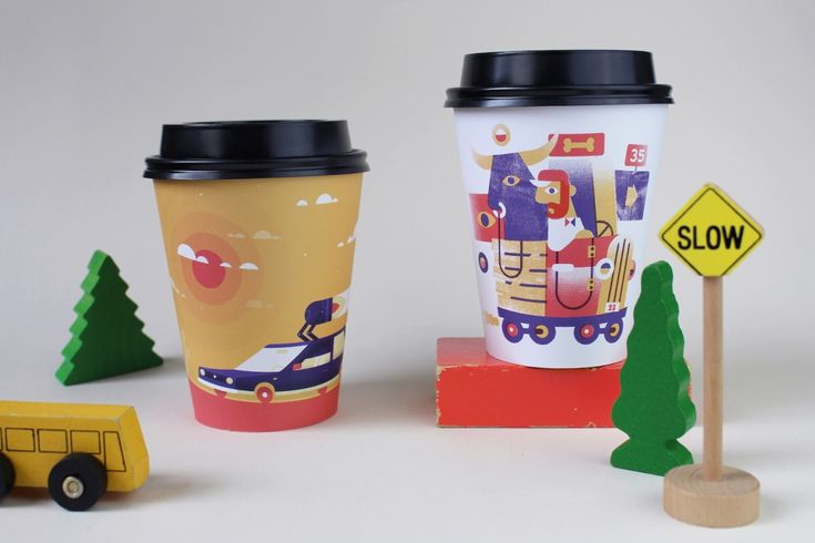 Drip For Drip: Quirky, themed illustrations brighten up paper coffee cups | Creative Boom